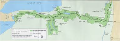 map of the erie canal erie canal zoom thinglink