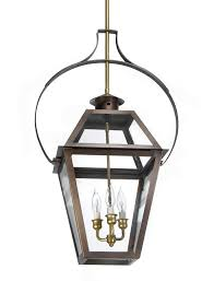 ch 23 hanging light copper lantern gas and electric lighting