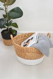 diy painted wicker baskets burkatron
