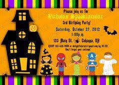 free printable halloween birthday party invitations u2013 fun for