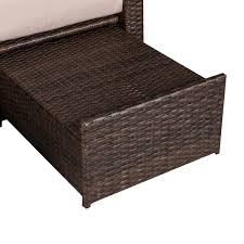 Wicker Chaise Lounge with Aosom Outsunny 3 Piece Outdoor Rattan Wicker Chaise Lounge