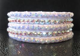 white swarovski crystal bracelet images White swarovski ballroom bangles with your choice of ab clear or jpg