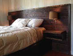 Wood Pallet Headboard Bedroom Elegant Wood Headboards With Shelves Pallet Headboard