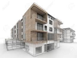 apartment building design progress architecture visualization