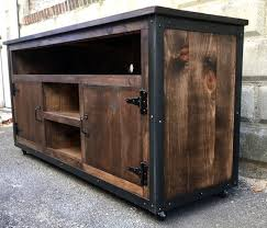 custom rustic industrial weathered barn board entertainment center