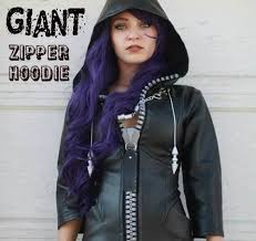 easy giant zipper hoodie tutorials sewing projects and craft