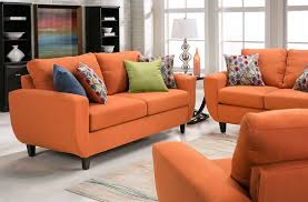 Slumberland Living Room Sets by Malta Collection Orange Sofa From Slumberland Furniture