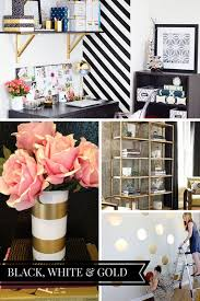 blog office makeover plans black white gold inspiration boards