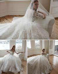 romantic 3d floral illusion plunging neck half sleeve ball gown