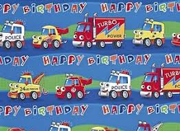 cars wrapping paper 2 x boys birthday wrapping paper gift wrap cars free 1st