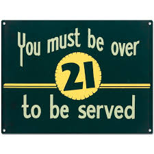 you must be over 21 metal sign drinking age funny home bar decor