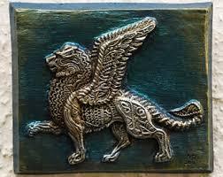 winged lion etsy