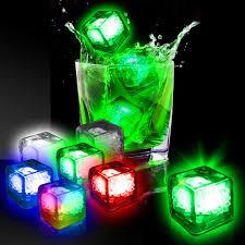 light up cubes imprinted liquid activated light up cubes