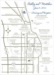 Map River North Chicago by Fun Wedding Maps U2014 Custom Map Design By Snappymap