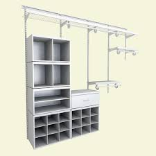 closetmaid selectives 25 in white custom closet organizer 7029