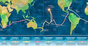 World Wide Map Hōkūleʻa U2014 Mālama Honua Worldwide Voyage Destinations Hōkūleʻa