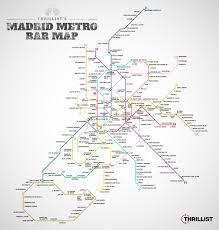 Madrid Metro Map El Plano De Metro De Madrid En Versión Bares Agenda De Ocio