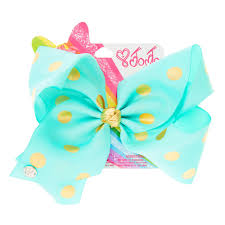 polka dot hair jojo siwa large mint gold polka dot hair bow s