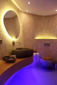 blue accent lighting for bathroom interiordesignew com