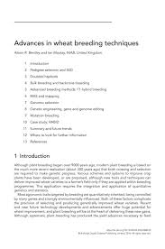 advances in wheat breeding techniques by burleighdodds issuu
