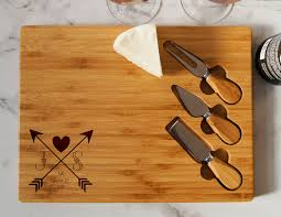 personalized cheese cutting board personalized cheese board set custom cheese board set engraved