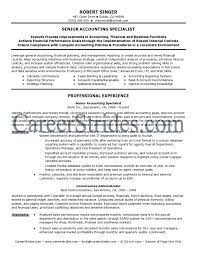 Sample Resume For Credit Manager by Professional Accounting Resume Templates Samples Sample Of