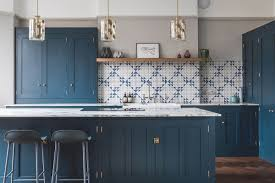 blue kitchen cabinets with granite countertops 6 countertops that look beautiful in a blue kitchen