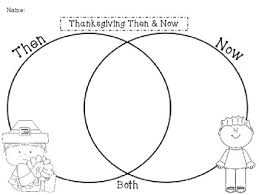 free thanksgiving then now venn diagram by kindergarten krysta