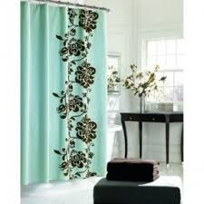 Brown And White Shower Curtains Blue Brown Shower Curtain Foter
