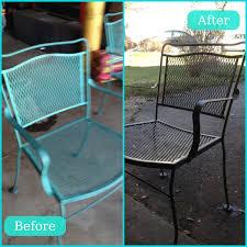 Outdoor Metal Patio Furniture Scarp Rust Lightly Sand And Spray Paint Patio Furniture Redo