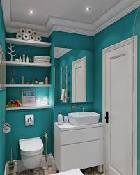 Bathroom With Shelves by Beautiful Colorful Tiles Wall Design Of Modern Bathroom With