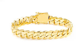 cuban gold bracelet images 14k solid yellow gold miami cuban bracelet groupon jpg