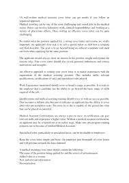 How To Write A Simple Cover Letter Medical Assistant Cover Letter Download