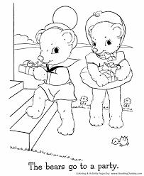 teddy bear valentine coloring sheet alltoys