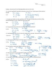 Science Worksheet Rochester Community Schools Block Physical Science