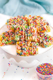 fruit treats rainbow fruit loop treats colorful rice krispy treats