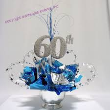 Table Decorations Centerpieces by 60th Birthday Party Table Decorations 60th Milestone Centerpiece