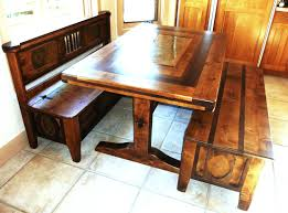benches table with two benches dining table benches with storage