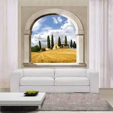 Trompe L Oeil Wallpaper by Finestra Ad Arco Trompe L U0027oeil Decori Per Pareti E Vetrate
