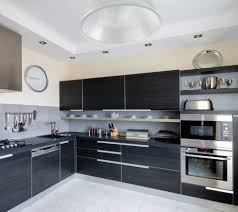 black kitchen cabinet for beautiful kitchen designoursign cool corner sink and microwave over oven idea feat modern black kitchen cabinets design