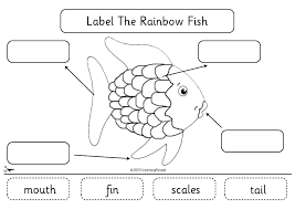 ideas collection rainbow fish worksheets free sheets
