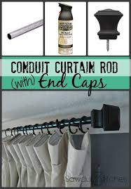 Diy Curtain Rod Finials Best 25 Long Curtain Rods Ideas On Pinterest Diy Curtain Rods