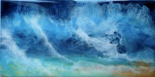 blue and white painting abstract art for sale view online gallery di fox artist