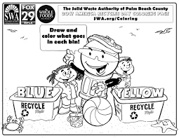 2017 Swa America Recycles Day Coloring Contest Solid Waste Sw Coloring Page