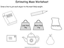 measuring mass year 2 powerpoint and worksheets by teacher of