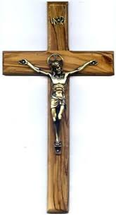 wood crucifix 8 or 10 olive wood crucifix from the holy land