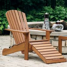 Chair W Ottoman Eucalyptus Adirondack Chair W Built In Ottoman At Brookstone Buy Now