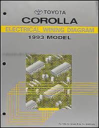 1993 toyota corolla wiring diagram manual original electrical