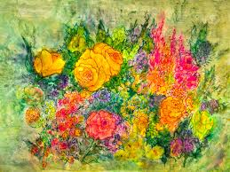 A Garden Of Flowers by A Painting Of A Colorful Assortment Of Flowers Depicts A Garden