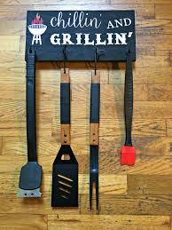 diy hanging grill tool display sign monthly home depot challenge